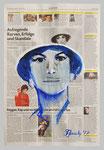 Gina Lollobrigida, 2017, 35 x 51 , Gouache und Tempera auf Zeitungspapier
