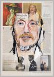 Beltracci - Original oder Kopie?, 2015 , 40 x 55, Gouache und Tempera auf Zeitungspapier