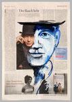 Ben Becker, 2015, 40 x 55, Gouache und Tempera auf Zeitungspapier