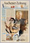 James Last, 2015, 35 x 51. Gouache und Tempera auf Zeitungspapier