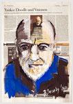 Charles Ives, Komponist, Versicherungsagent, Eigenbrötler 2013, 39 X 56, Gouache und Tempera auf Zeitungspapier