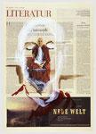 Mathieu Ricard,  Ein Genforscher wurde Mönch, 2007, 40 X 55, Tempera auf Zeitungspapier