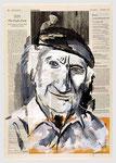 Franz Schuh lebt außergewöhnlich einfach, Umwege des Lebens, 2007, 40 X 55, Tempera auf Zeitungspapier