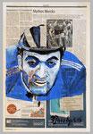 Eddie Merckx , 2015 , 39 x 51 , Gouache und Tempera auf Zeitungspapier