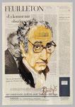 Jean Luc Godard, 2015, 39 X 56, Gouache und Tempera auf Zeitungspapier