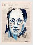 Michael G. Fritz, Als das Boot gekentert war, 2007, 39 X 56, Tempera auf Zeitungspapier