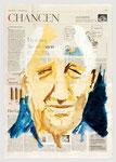 Michael Werner, Der letzte Plakatmaler aus Berlin, 2002, 40 X 55, Tempera auf Zeitungspapier