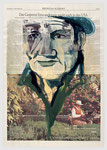 Einwanderungsgespenster und Alterselektronik , 2003, 39 X 56, Gouache und Tempera auf Zeitungspapier