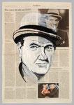 Karl Malden, 2015, 40 x 55, Gouache und Tempera auf Zeitungspapier