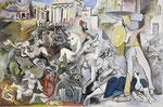 L'enlèvement des Sabines, tableau de Picasso (1962)