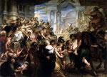 L'enlèvement des Sabines, tableau de Rubens (1635-37)