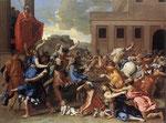 L'enlèvement des Sabines, tableau de Nicolas Poussin (1634-35)