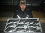 3月2日 ダゴチン釣りで宮本さん チヌ38㎝~27㎝12匹