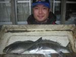 4月5日 磯釣りで朴さん チヌ、クロ