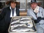 3月13日 ダゴチン釣りで鍬先従兄弟 良型チヌ48.6㎝を頭に5匹