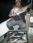 2月4日 磯釣りで宇野さん ガバチヌ55㎝を頭に5匹