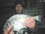 2月5日 磯釣りで石原さん 初めての松島でチヌ42㎝