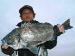 3月27日 磯からフカセ釣り 山下さん 52㎝