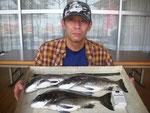 7月26日 キス釣りで北村さん達 キス26.5㎝を頭に99匹