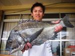5月10日 ダゴチン釣りで廣田 浩一さん ガバチヌ53.3㎝