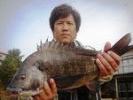 2月13日 磯釣りで北岡さん ガバチヌ52㎝