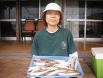 6月13日 ボート釣りで枝尾さん キス24㎝を頭に28匹