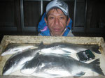 4月4日 磯釣りで江藤さん チヌ42.5㎝を頭に4匹