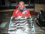 3月7日 ダゴチン釣りで高浪さん メイタ33~28㎝を24匹