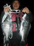 2月6日 磯釣りで城塚さん チヌ42㎝