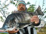 4月13日 磯からフカセ釣り 長野さん 52㎝を頭に2匹