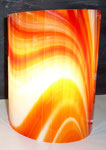 Applique orange flamme verre - 19 cm x 25 cm