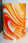 Applique jaune orange verre vitrail - 19 cm x 25 cm