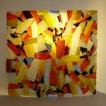 Applique  mosaïque 2 verre - 28 cm x 26 cm