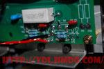 Пайка элементов на плате транзисторов