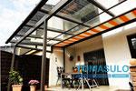 Terrassenüberdachung mit Dachüberstand