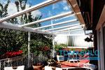 Aluminium Terrassenüberdachung weiß RAL 9016