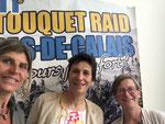 Avec Karine Baillet, au Touquet