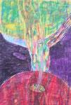 Titel: Lebensbaum, Wachsmalkreide auf Papier
