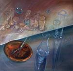 """""""Zwei Welten"""" (80x80) 2013"""