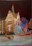 """Willy-Brandt-Haus"""" (50x70cm.) 2018"""