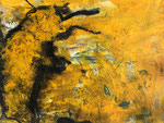 Hommage an Emil I / 2018 / Acryl, Wachs, Ölkreide auf Papier / 42x30