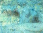 Im Wasser /  Acryl auf Papier /  25x25
