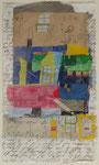 -Kindliche Festung - (2005) 32x18 Aquarellfarbe ,Tusche ,Buntpapier