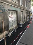 Fassadensockel Sanierung vorher