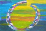 Titel: Zenkreis, Licht und Verarbeitung, Acryl auf Papier