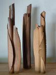 Vases bouquets - Sylvie Ruiz Ruiz Foucher 2016 -Grès cuisson four à bois Noborigama