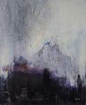Wolkenschloß, Acyl, Sumpfkalk Mischtechnik 50x60 cm, vergeben