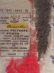 sack und Asche, Mischtechnik auf Kaffeesack 60x80 cm 220 Euro