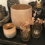 Teelichter, Vase