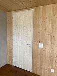 Blockrahmen bündig in Wand eingelassen, komplett Fichte massiv